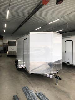2019 Legend Trailers White Thunder  7'X14' + 2' V-Nose Tandem Axle Enclosed Cargo Trailer