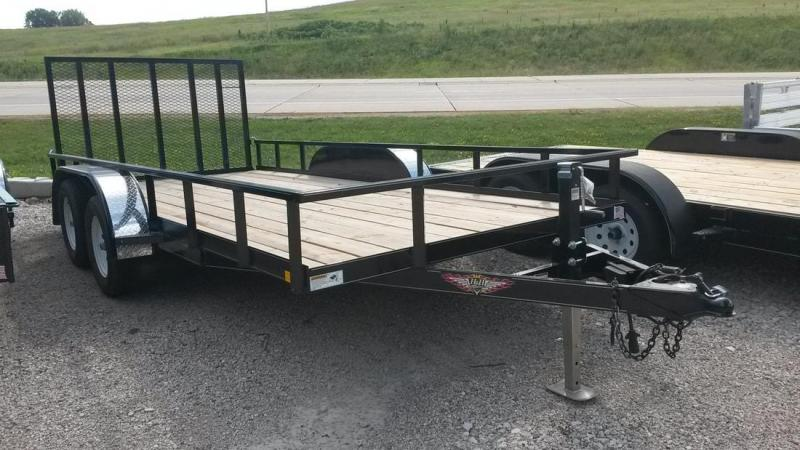 2018 H&H Trailers 8.5x18 Utility Rail Side Tandem Axle