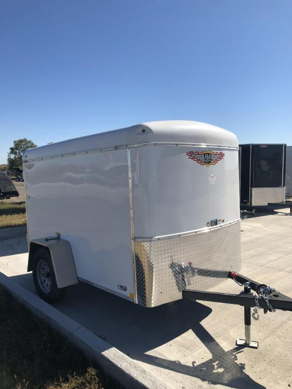 2019 H&H Trailers 5x8 Cargo White Round Top Single Axle in IA