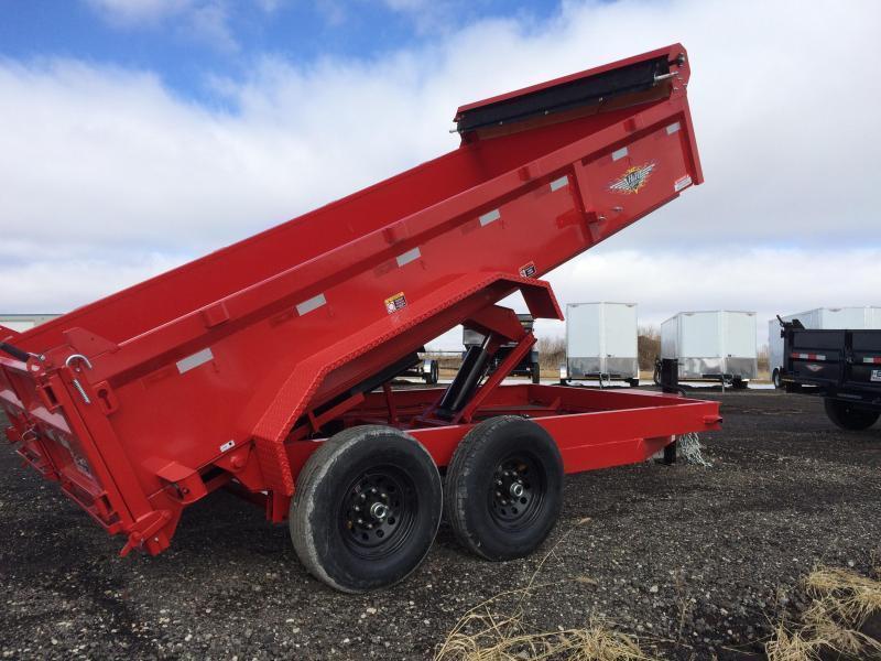 "2019 H&H Trailers 83""x14' - Red - DBW Dump Box Tandem Axle"
