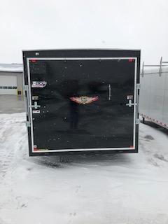 "2019 H&H Trailers 101""x16' Cargo Black Flat Top V-Nose Tandem 5.2k Axle"