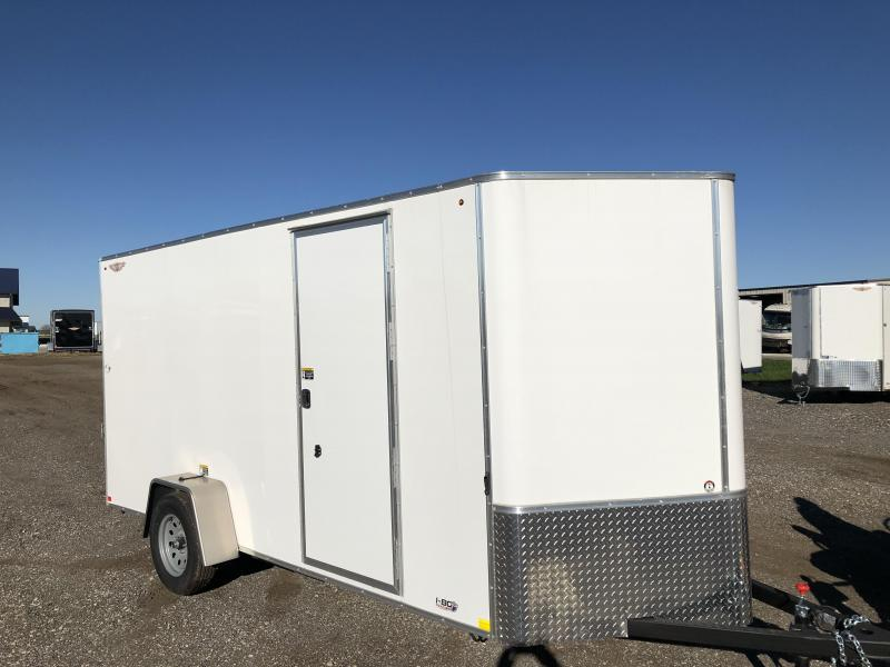 2019 H&H Trailers 6x14 Cargo White Flat Top V-Nose Single Axle  in IA