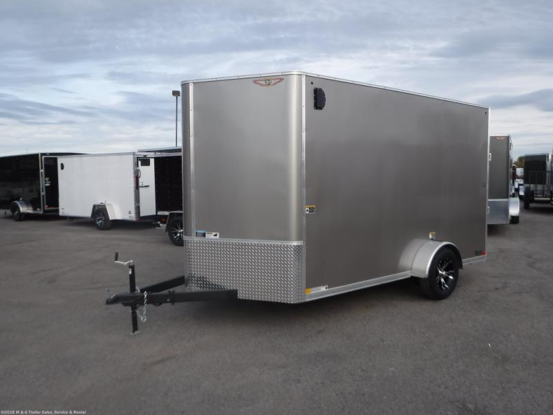 2019 H&H Trailers 7x12 Cargo Flat Top V-Nose Charcoal Single Axle