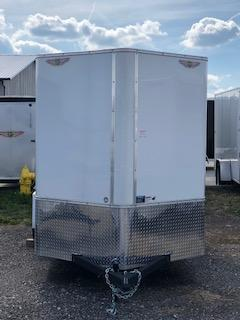 2019 H&H Trailers 6x12 Cargo White Flat Top V-Nose Single Axle in Ashburn, VA