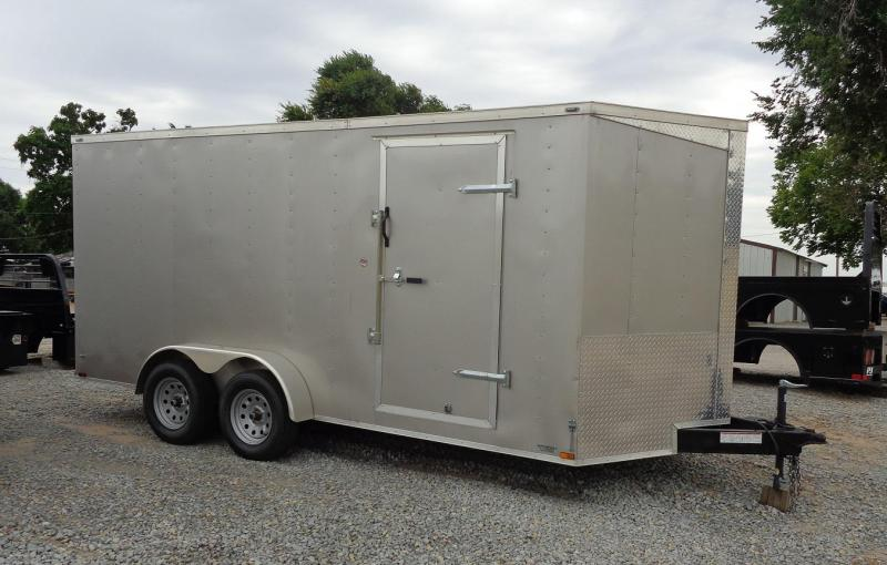 2020 Lark 7' x 16' V-Nose Enclosed Cargo Trailer
