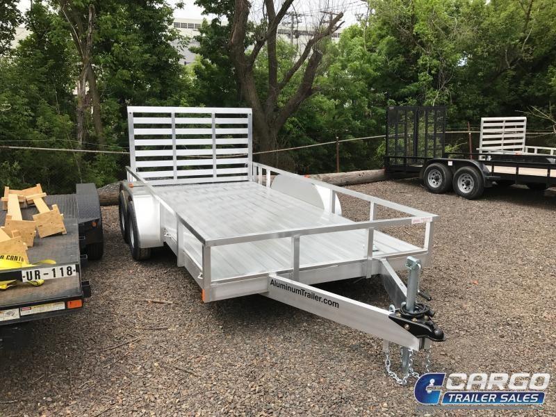 2018 Aluminum Trailer Company OUTAB7014+0-2T3.5K Flatbed Trailer