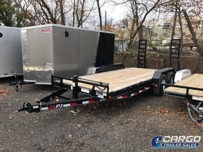 2019 PJ Trailers 18 CC EQ Flatbed Trailer