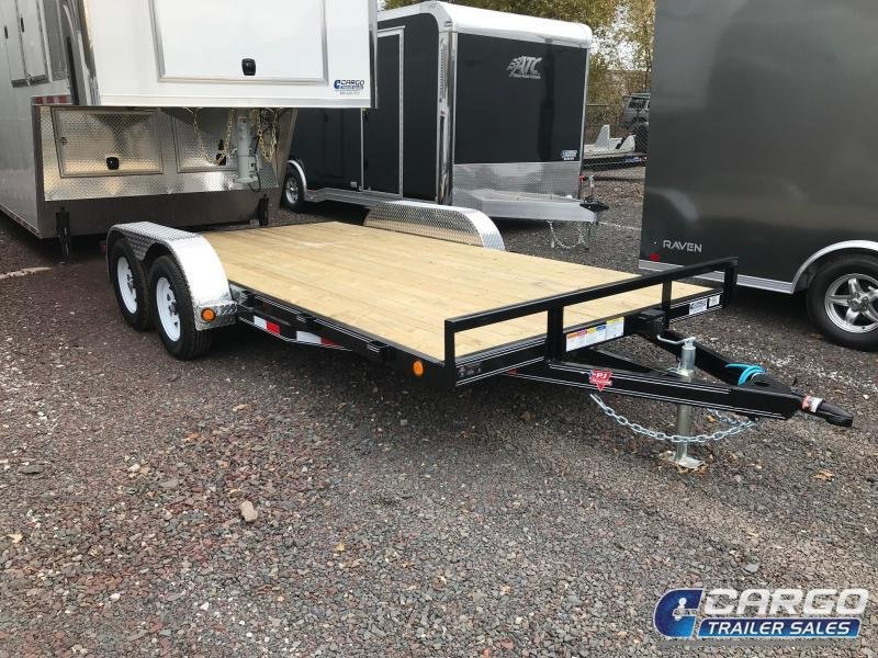 2019 PJ Trailers 16 C4 Car Hauler Flatbed Trailer