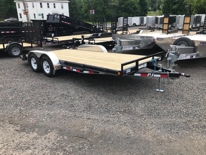 2019 PJ Trailers C5 Car Hauler Flatbed Trailer