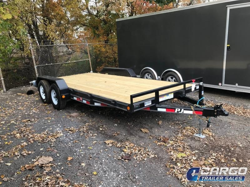 2019 PJ Trailers 18 CE 5 Channel Equipment Flatbed Trailer