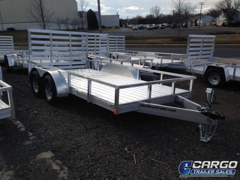 2019 Aluminum Trailer Company OUTAB7016+0-2T3.5K Flatbed Trailer