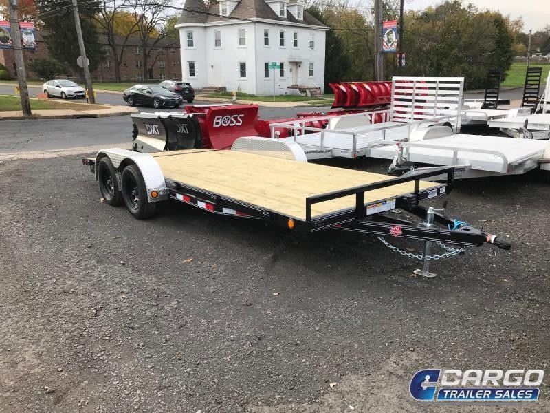 2019 PJ Trailers 18 C4 Car Hauler Flatbed Trailer