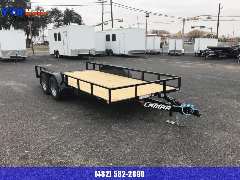 2019 Lamar 83x16 Utility TrailerDovetail Ramps