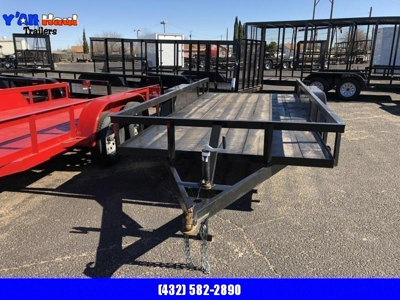 C&M 76 x 16 classic RED Utility Trailer
