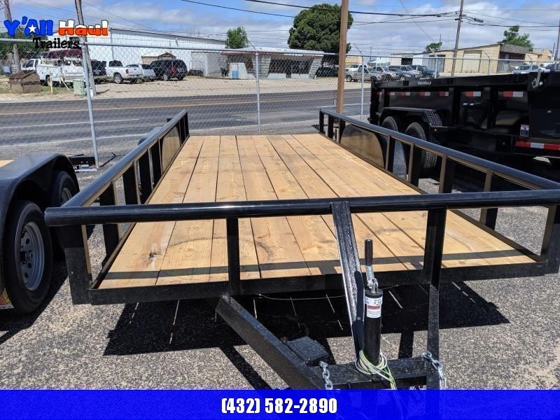 2019 C&M 76x16 Utility Trailer PT Ramps Brake