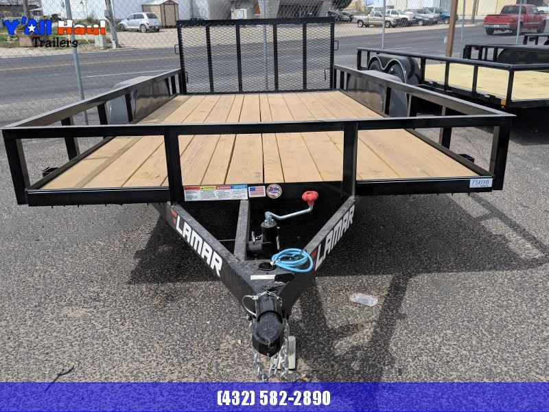 2019 C&M 82X16 Dovetail Gate Utility Trailer