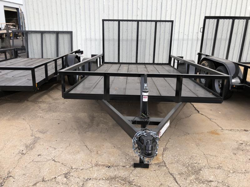 C&M 76 x 12 Utility Trailer 4' Gate