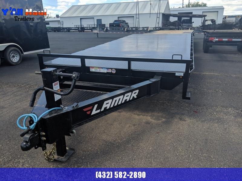 2019 Lamar Trailers 102X20 Deckover Utility Trailer Diamond Floor