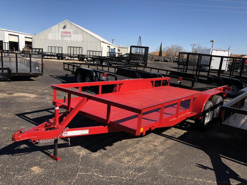 C&M 76 x 16 Classic Red Utility Trailer