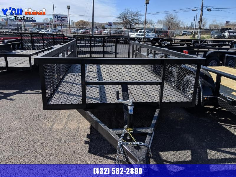 C&M 76 x 14 Dove tail Gate 2' Expanded metal sides Utility Trailer