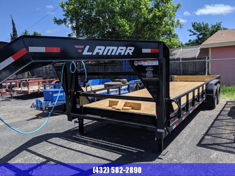 2019 Lamar 83x24 Goosneck 7k Low Boy