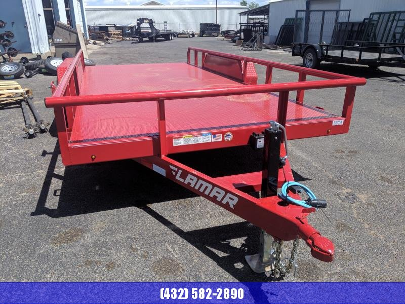 Lamar 83 x 16 Red Steel floor 5.2k Utility Trailer