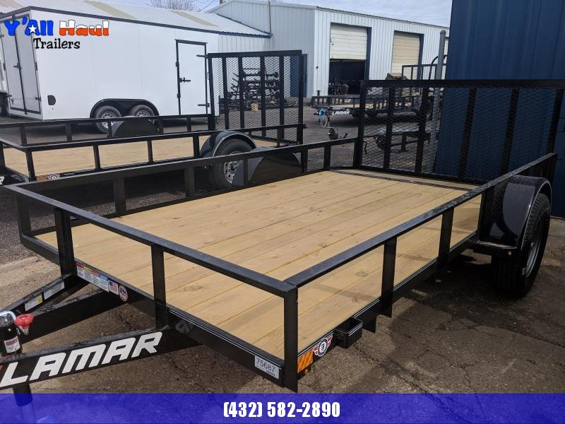 "Lamar 77 x 12 Utility Trailer Single Dovetail 32"" Gate"