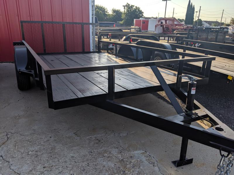 C&M 76 x 12 single Utility Trailer 2' Dovetail 32