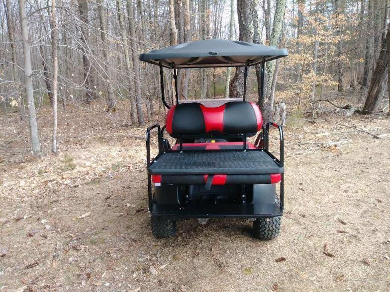 Custom Precedent Phantom Red 4 pass ELEC golf cart