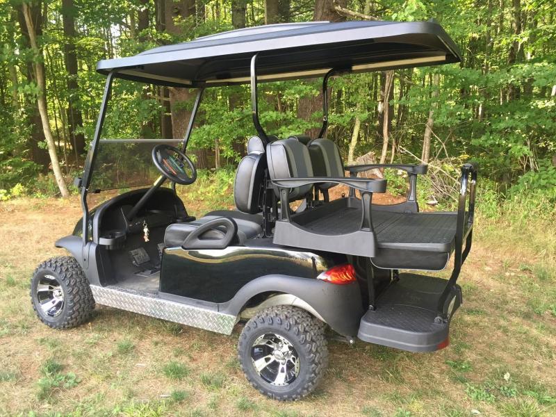 Tsunami Black/Silver Club Car Precedent 4 pass Golf Car-NICE!