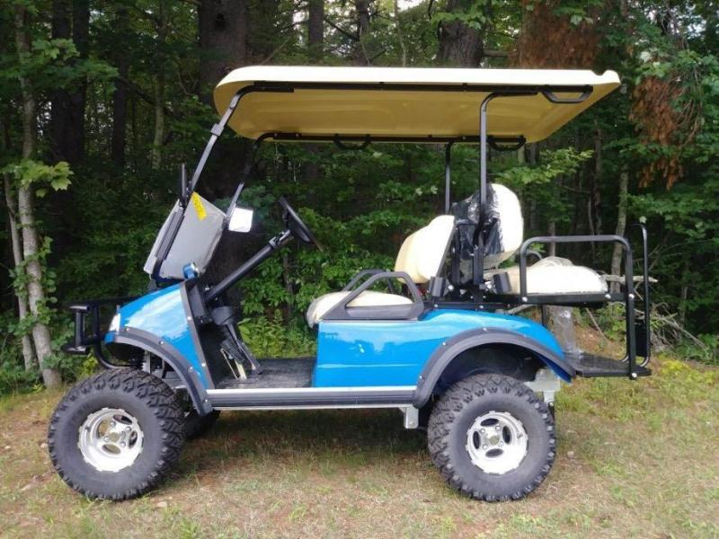 SAVE $2000! 2018 Evolution Electric LIFTED Blue 4 p Golf Car ... on