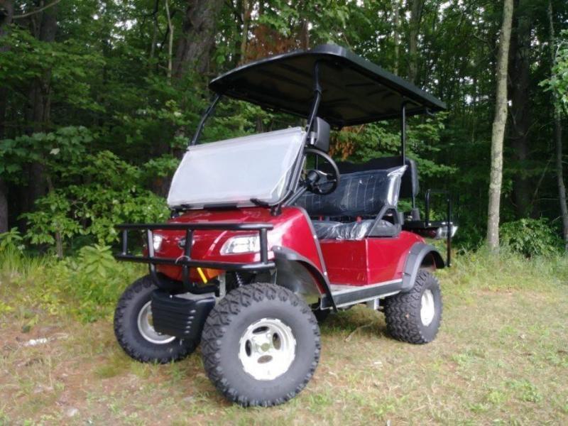Save $2000! Evolution Forester Electric 4 p Golf Car Burgundy ... on