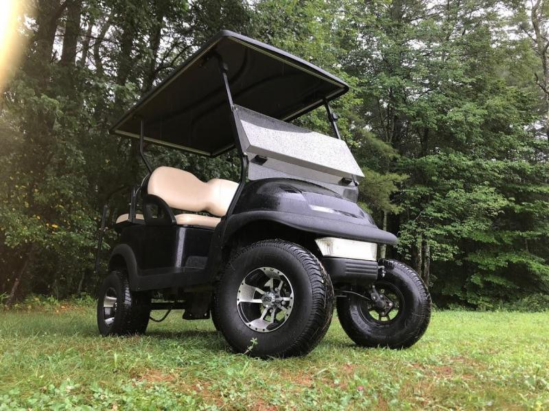 Club Car Precedent Electric 4 Pass Black Golf Cart 6 Lift Kit Nice