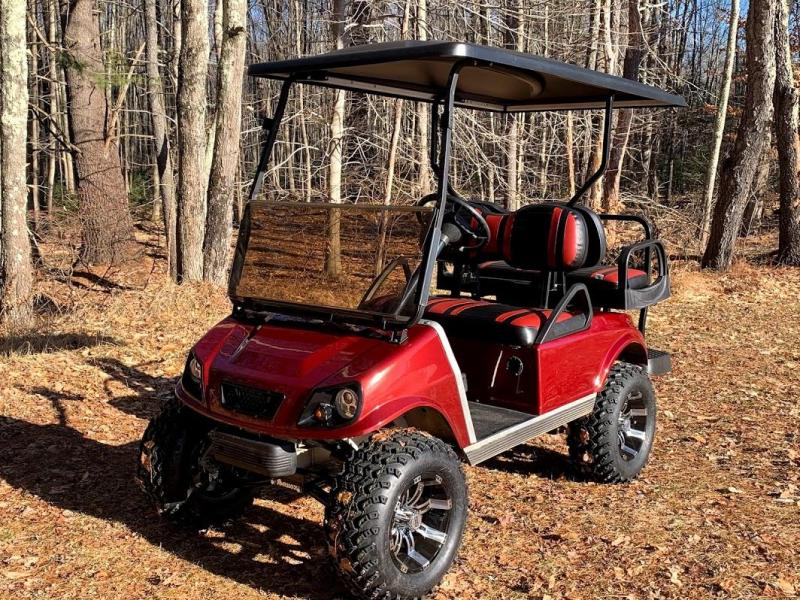 GAS Club Car CUSTOM 4 PASSENGER Metallic Burgundy Spartan W/LIFT KIT