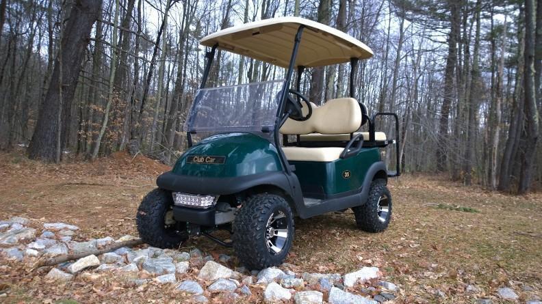 Club Car Precedent Electric 4 passenger golf cart LIFTED