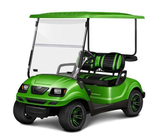 Sweet Custom Yellow Black 2014 Yamaha Gas Drive 4 Passenger Golf