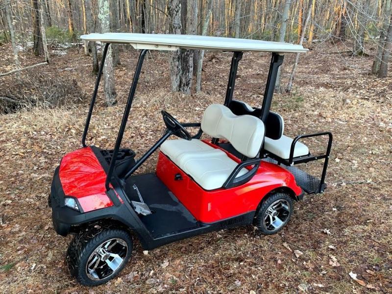 Yamaha Drive GAS 4 pass SEMI-CUSTOM golf car RED HAVOC body-NICE!!