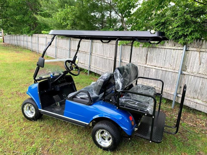 SAVE $1000 NEW Evolution 4 pass 22MPH  AQUA BLUE GOLF CAR