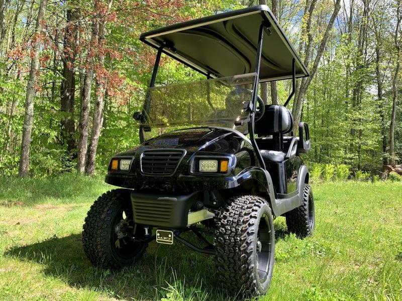Club Car Precedent Metallic Black Phantom Custom Golf Cart 6 Lift
