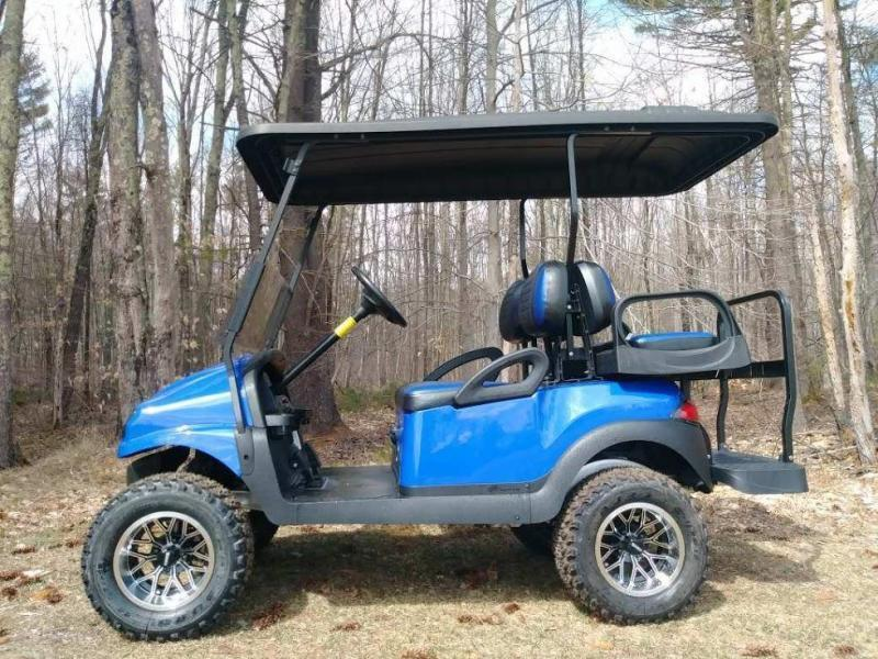 Metallic Blue Custom Lifted Precedent Phantom Elec Golf Car