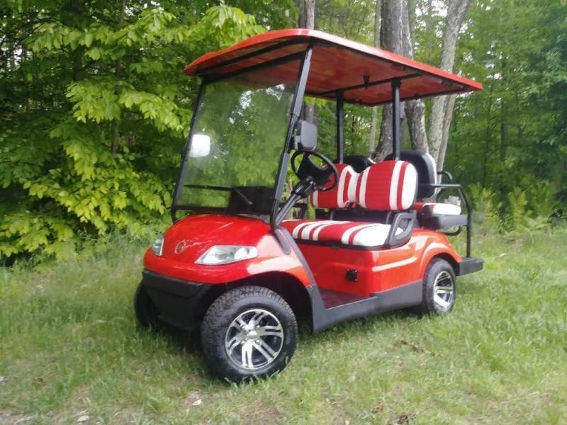 Save $1500!! NEW Advanced EV 4 pass 25MPH red electric golf car 3 yr warranty