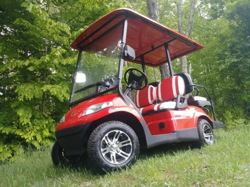 Save 1000 New Advanced Ev 4 Pass 25mph Red Electric Golf Car 3 Yr