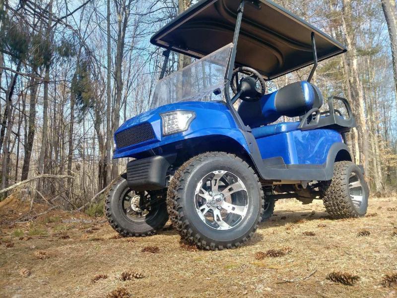 Metallic Blue Custom Precedent Alpha Lifted COOL Golf Car w/warranty
