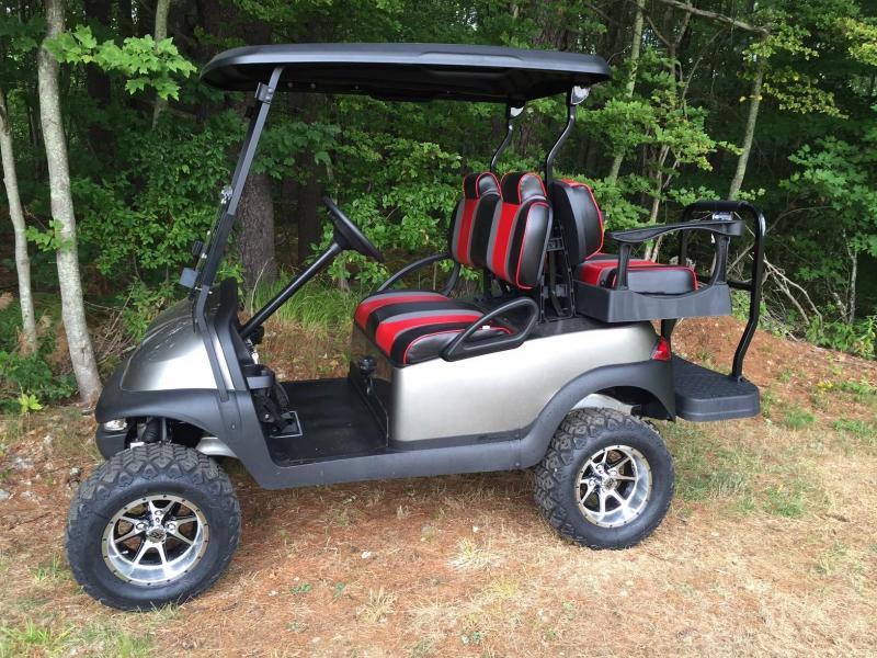 Tsunami Metallic Platinum Club Car Precedent Elec 4 pass golf cart