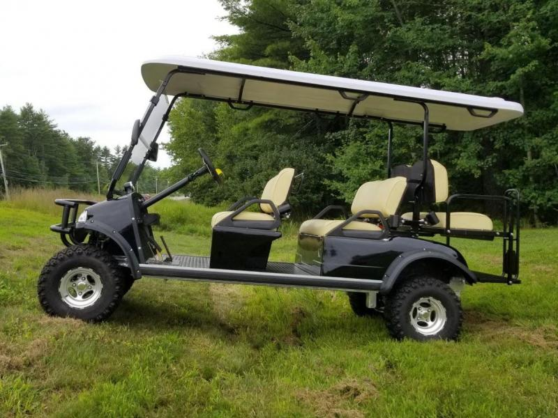 Save $1500 2018 Forester 6 pass Electric Limo Golf Car Black 25MPH