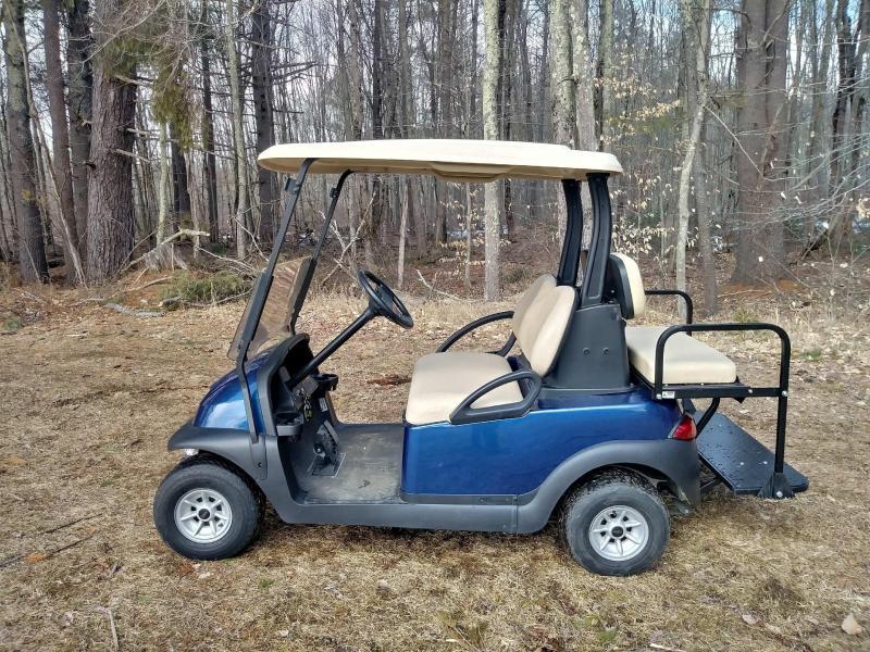Sapphire Blue Metallic Club Car Precedent  Electric 4 Pass Golf Cart w/warranty