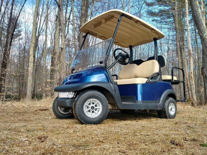 Sapphire Blue Metallic Club Car Precedent Electric 4 Pass Golf Cart  w/warranty