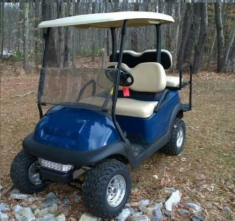 Club Car Precedent Electric BLUE 4 pass golf cart LIFTED w/warranty