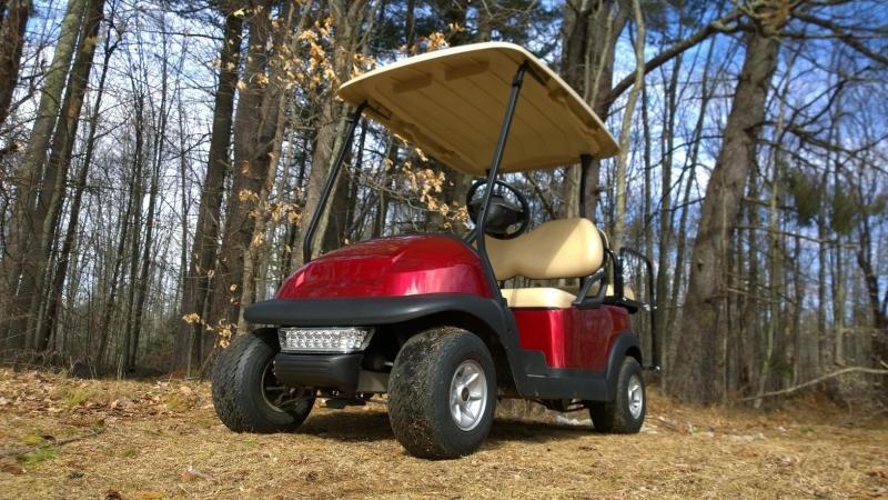 Candy Apple Red Metallic Club Car Elec 4 Pass Golf Cart w/warranty