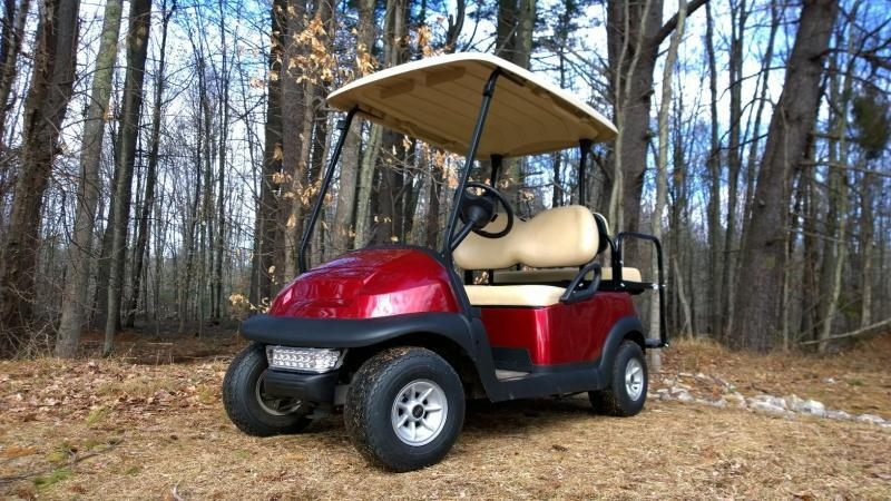 Candy Apple Red Metallic Club Car Electric 4 Pass Golf Cart